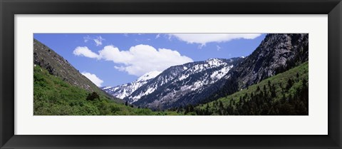 Framed Clouds over mountains, Little Cottonwood Canyon, Salt Lake City, Utah, USA Print