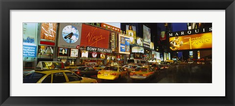 Framed Times Square, Manhattan, NYC, New York City, New York State, USA Print