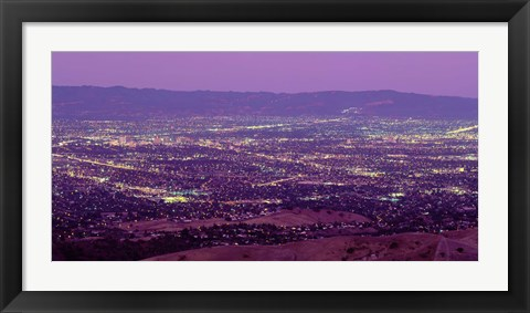 Framed Aerial Silicon Valley San Jose California USA Print