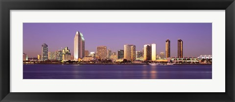 Framed Skyscrapers in a city, San Diego, San Diego County, California, USA Print