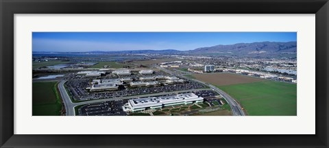 Framed Aerial View, Silicon Valley Business Campus, San Jose, California, USA Print