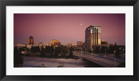 Framed Buildings in a city, Sacramento, California, USA Print