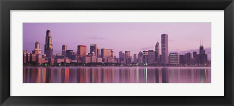 Framed City On The Waterfront, Chicago, Illinois, USA Print