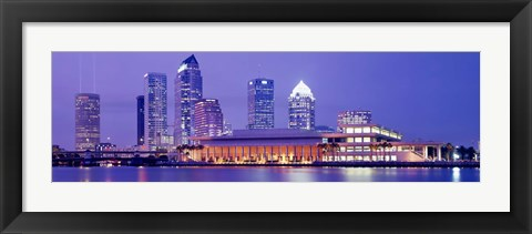 Framed Building at the waterfront, Tampa, Florida, USA Print