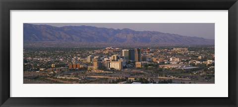 Framed High angle view of a cityscape, Tucson, Arizona, USA Print