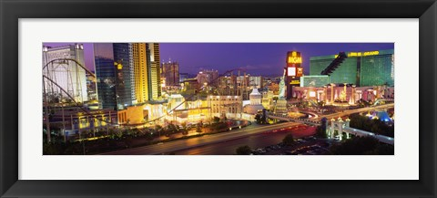 Framed MGM Grand and Roller Coaster, Las Vegas Print