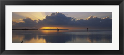 Framed Reflection of clouds in the sea, Everglades National Park, near Miami, Florida, USA Print