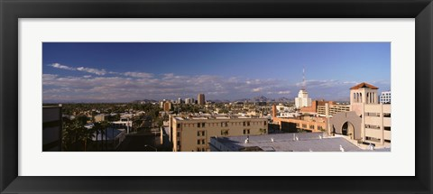 Framed USA, Arizona, Phoenix, Aerial view of the buildings Print