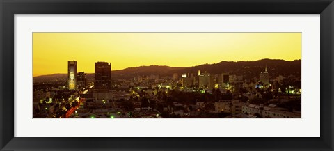 Framed Hollywood Hills, Hollywood, California, USA Print