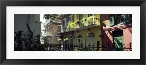 Framed Buildings along the alley, Pirates Alley, New Orleans, Louisiana, USA Print