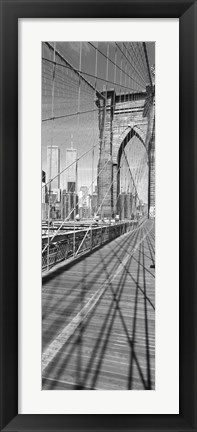 Framed Brooklyn Bridge Manhattan New York City NY USA Print