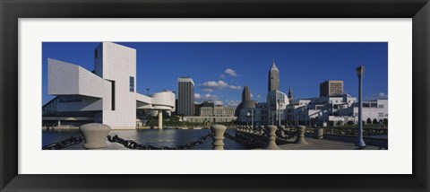 Framed Building at the waterfront, Rock And Roll Hall Of Fame, Cleveland, Ohio, USA Print