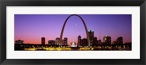Framed Skyline, St. Louis, MO, USA Print