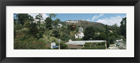 Framed Low angle view of a hill, Hollywood Hills, City of Los Angeles, California, USA Print