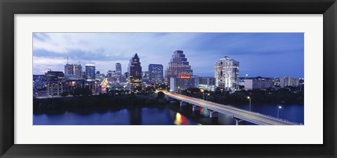 Framed Night, Austin, Texas, USA Print