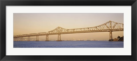 Framed Low angle view of a bridge, Bay Bridge, California, USA Print