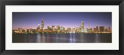 Framed Buildings at the waterfront, Chicago, Illinois Print
