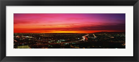 Framed Aerial Los Angeles CA Print