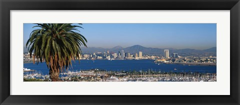 Framed San Diego from a Distance Print