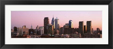 Framed Early morning in a city, Philadelphia, Pennsylvania, USA Print
