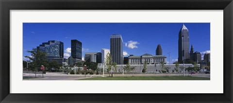 Framed Buildings in Cleveland, Ohio Print