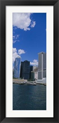 Framed Low angle view of skyscrapers, Manhattan Print