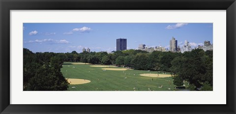 Framed High angle view of the Great Lawn, Central Park, Manhattan, New York City, New York State, USA Print