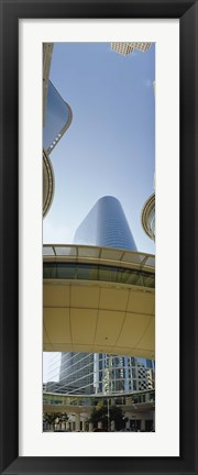 Framed Low angle view of buildings in a city, Enron Center, Houston, Texas Print
