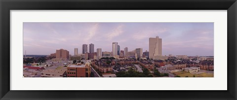 Framed Skyscrapers in a city, Fort Worth, Texas, USA Print