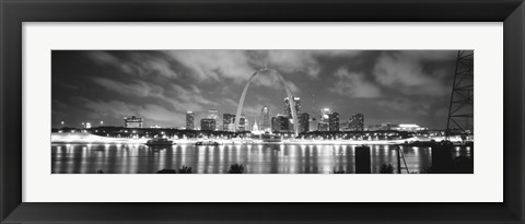 Framed Evening St Louis MO Print