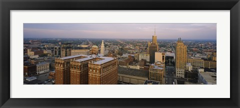 Framed High Angle View Of Buildings In A City, Buffalo, New York State, USA Print