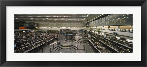 Framed Empty mercantile exchange, Chicago Mercantile Exchange, Chicago, Illinois, USA Print