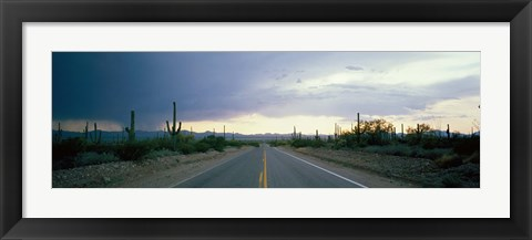 Framed Desert Road near Tucson Arizona USA Print