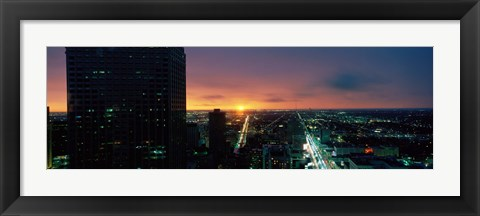 Framed Night view of Houston, Texas Print