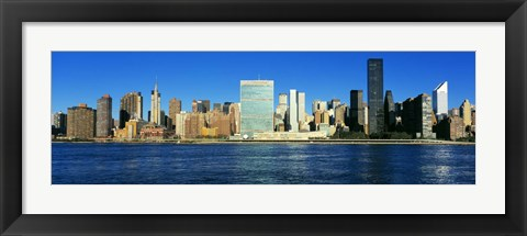 Framed New York Ciry Skyline (horizontal) Print