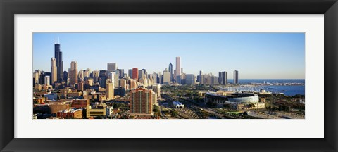 Framed Colorful View of Chicago from the Sky Print