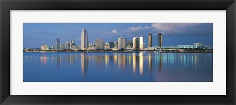Framed San Diego from the Water Print