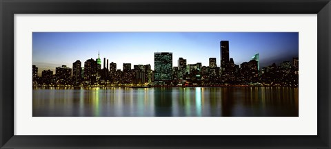 Framed Skyscrapers In A City, NYC, New York City, New York State, USA Print