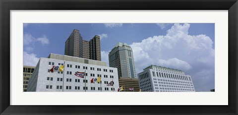 Framed Cloud over tall building structures, Columbus, Ohio Print