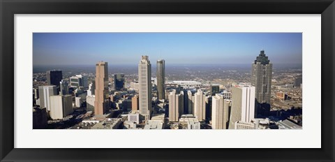 Framed Aerial view of Atlanta, Georgia Print