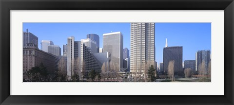Framed San Francisco Skyscrapers Print