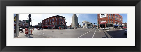 Framed Buildings in a city, Wicker Park and Bucktown, Chicago, Illinois, USA Print