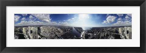 Framed 360 degree view of a city, Tampa, Hillsborough County, Florida, USA Print
