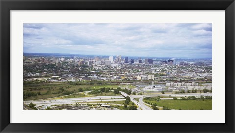 Framed Aerial view of a city, Newark, New Jersey, USA Print