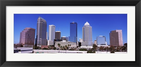 Framed Skyscrapers in a city, Tampa, Florida, USA Print
