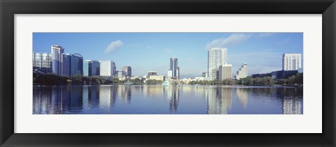 Framed Lake Eola Waterfront, Orlando, Florida Print