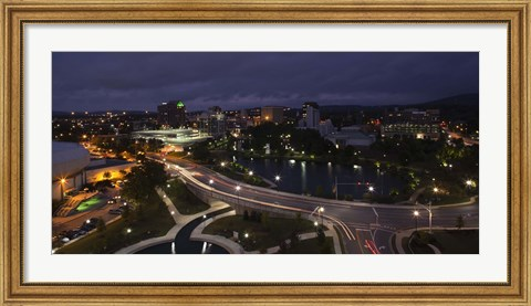 Framed High angle view of a city, Big Spring Park, Huntsville, Madison County, Alabama, USA Print
