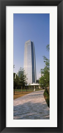 Framed Devon Tower, Downtown Oklahoma City, Oklahoma Print