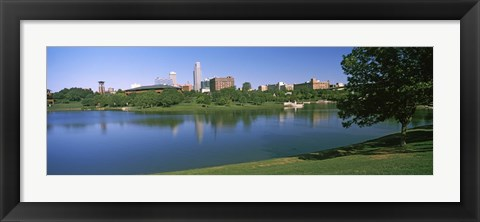 Framed Buildings at the waterfront, Omaha, Nebraska (horizontal) Print