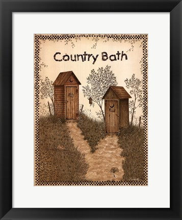 Framed His and Hers Outhouses Print